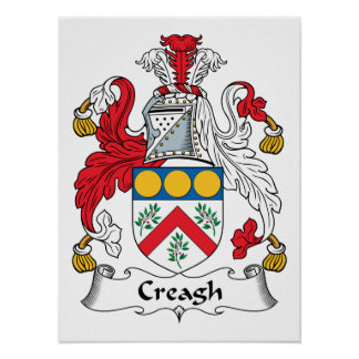 Creagh Family Crest Poster