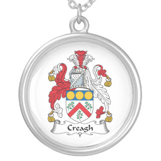Creagh Family Crest Round Pendant Necklace