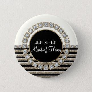 cream-2-Simple-bracket-GLITTER-PAPER-AJR.jpg Pinback Button