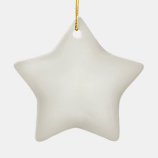 Cream 3d Effect Star Ornament