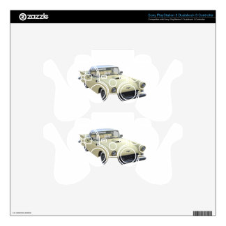 Cream 50's SportsCar Decal For PS3 Controller