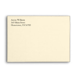 Cream A7 5x7 Custom Pre-addressed Envelopes