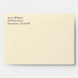 Cream A7 5x7 Custom Pre-addressed Envelopes
