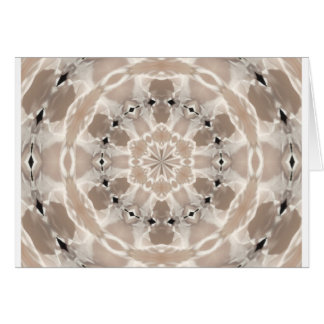 cream and beige cafe au lait abstract art card