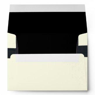 Cream and Black Custom Envelope envelope