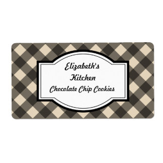 Cream and Black Kitchen Labels