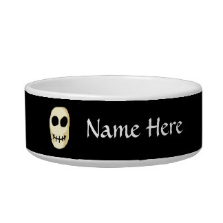 Cream and Black Skull. Bowl