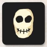 Cream and Black Skull. Drink Coaster