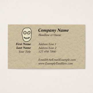 Cream and Black Skull. Primitive. Business Card