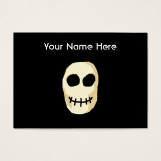 Cream and Black Skull. Primitive Style. Business Card