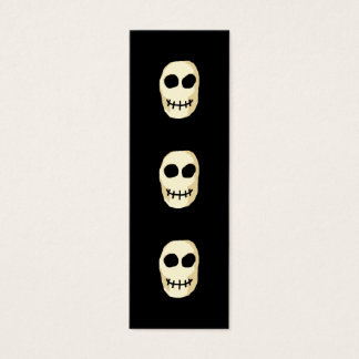 Cream and Black Skull. Primitive Style. Mini Business Card