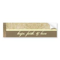 Cream and Bronze Paisely Bumpersticker Bumper Sticker