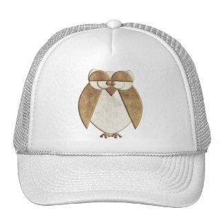 Cream and Brown Owl Trucker Hat