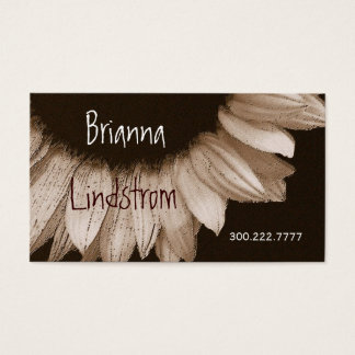 Cream and Chocolate Sunflower Business Card