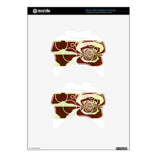 Cream and chocolate xbox 360 controller decal