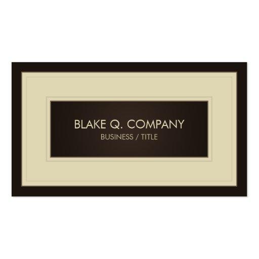 Cream and Dark Brown Elegant Business Card