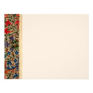 Cream and flowers custom letterhead