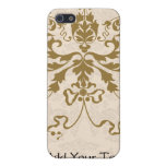 Cream and Gold Damask iPhone 5 Covers