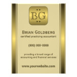 """Cream and Gold Plate 8.5"""" x 11"""" Accountant Flyers Full Color Flyer"""
