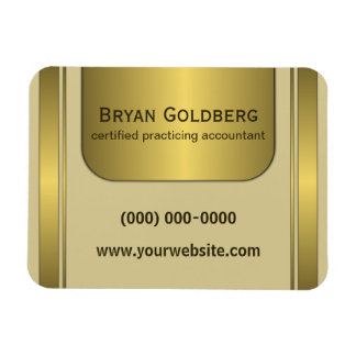 Cream and Gold Plate Accountant Small Flexi Magnet Magnets