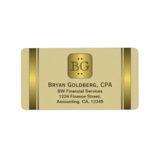 Cream and Gold Plate Elegant Address Labels