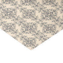 Cream and Grey Elegant Victorian Style Damask Art Tissue Paper