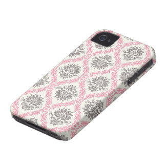 cream and grey tan damask bliss iPhone 4 covers