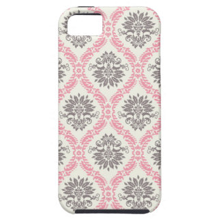 cream and grey tan damask bliss iPhone 5 cases