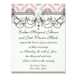 cream and grey tan damask bliss personalized announcement