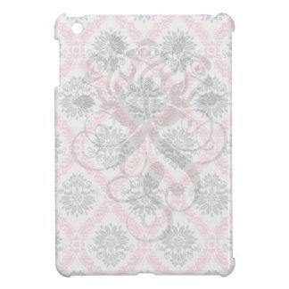 cream and grey tan damask bliss iPad mini cases