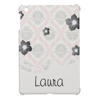 cream and grey tan damask bliss iPad mini cover