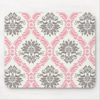 cream and grey tan damask bliss mouse pad