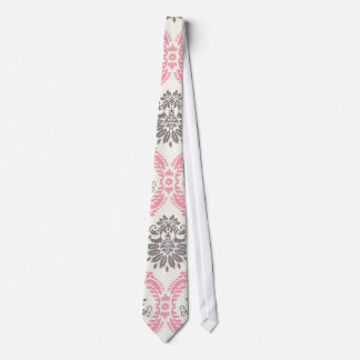 cream and grey tan damask bliss tie