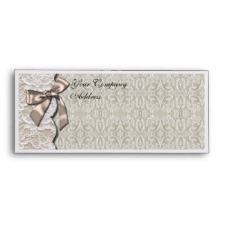Cream and Lace Business envelope