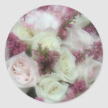 Cream and Pale Pink Rose envelope seals Sticker