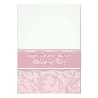 Cream and Pink Wedding Vow Renewal Invitations