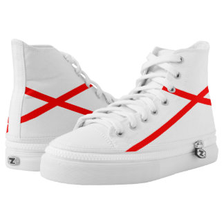 Cream and Red DiStrade Hi-Top