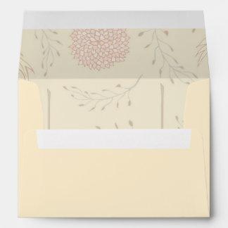 Cream and Red Flower Design Envelope
