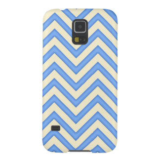 Cream and Soft Blue Chevrons Case For Galaxy S5