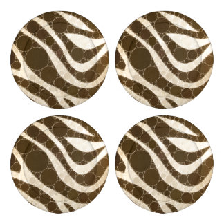 Cream and Sugar Zebra Button Covers