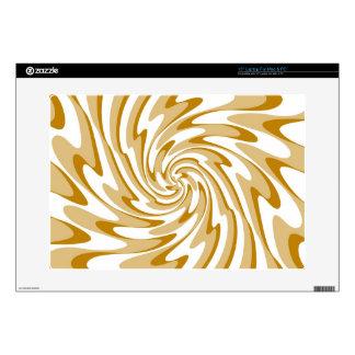 Cream and White Wave Swirl Decorative Art Laptop Skin