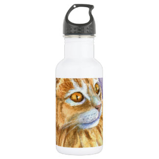 Cream Angora Cat Stainless Steel Water Bottle