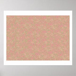 Cream Background Somber Decorative Pallet Print