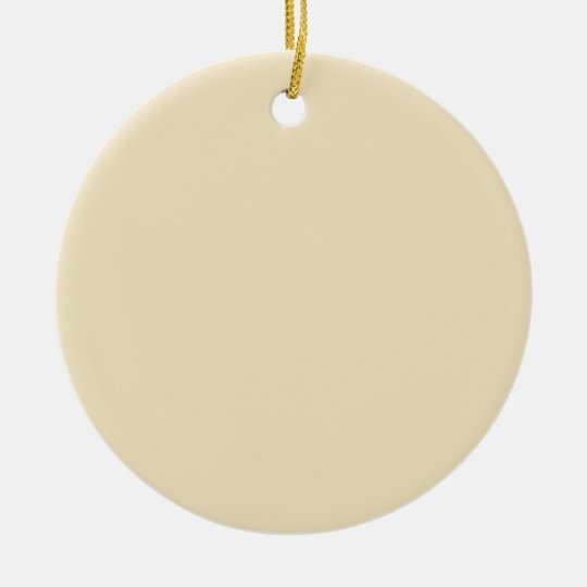 Cream Beige Background on an Ornament
