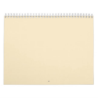 Cream Beige Backgrounds on a Calendar