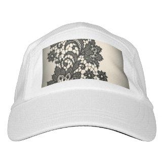 cream beige paris chic floral victorian black lace hat