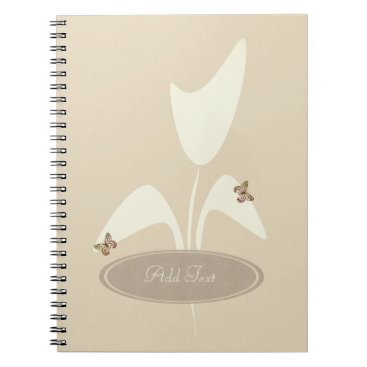 Beach Themed Cream Beige Tulip Flower Journal