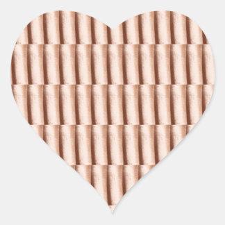 Cream Bit Stripes TEMPLATE add TEXT IMG Customize Heart Sticker