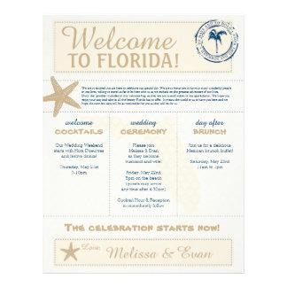 Cream & Blue  Starfish Welcome Florida Letter Letterhead