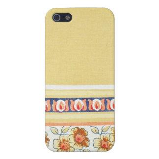 CREAM BORDERED FLORAL DESIGN iPhone SE/5/5s CASE